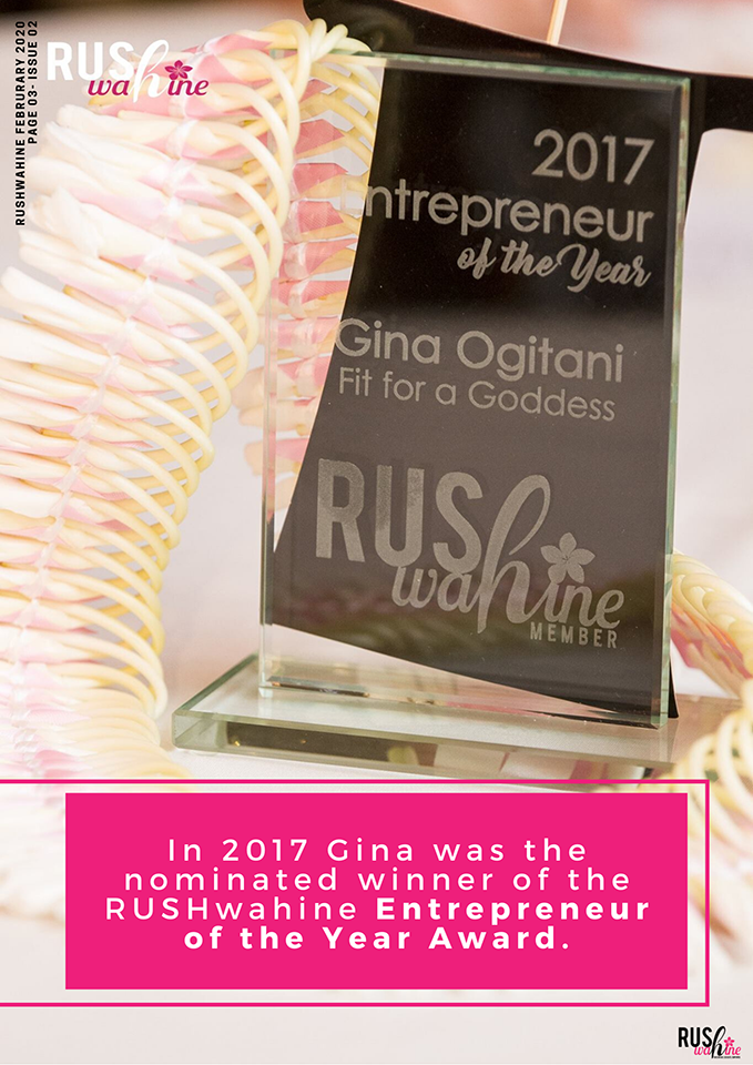 Rush Wahine Entrepreneur of the Year 2017